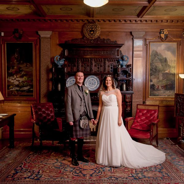 Bride and Groom at Haddo House - Aberdeen Wedding Photographer