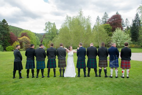 Glen Tanar Wedding Photographer - Kilts