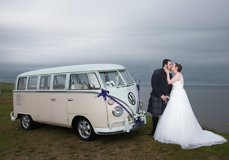 Doubletree Hilton Aberdeen Wedding - Camper Van Portrait